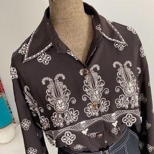 Vintage bead embellished Western style shirt